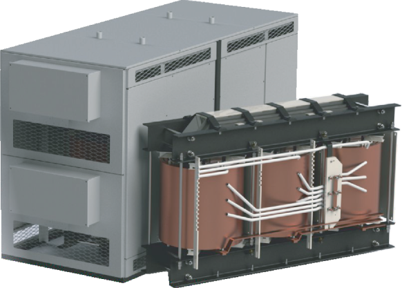THREE-PHASE TRANSFORMER WITH AIR-BARRIER INSULATION of TC(Z) -25..2500 kVA type